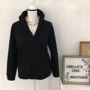J.Crew Black Fleece Shawl-Collar Popover Sz L